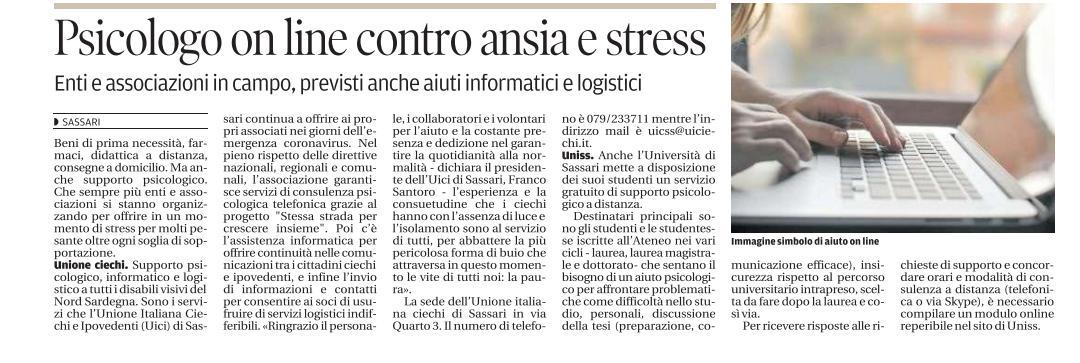 Psicologo on line contro ansia e stress
