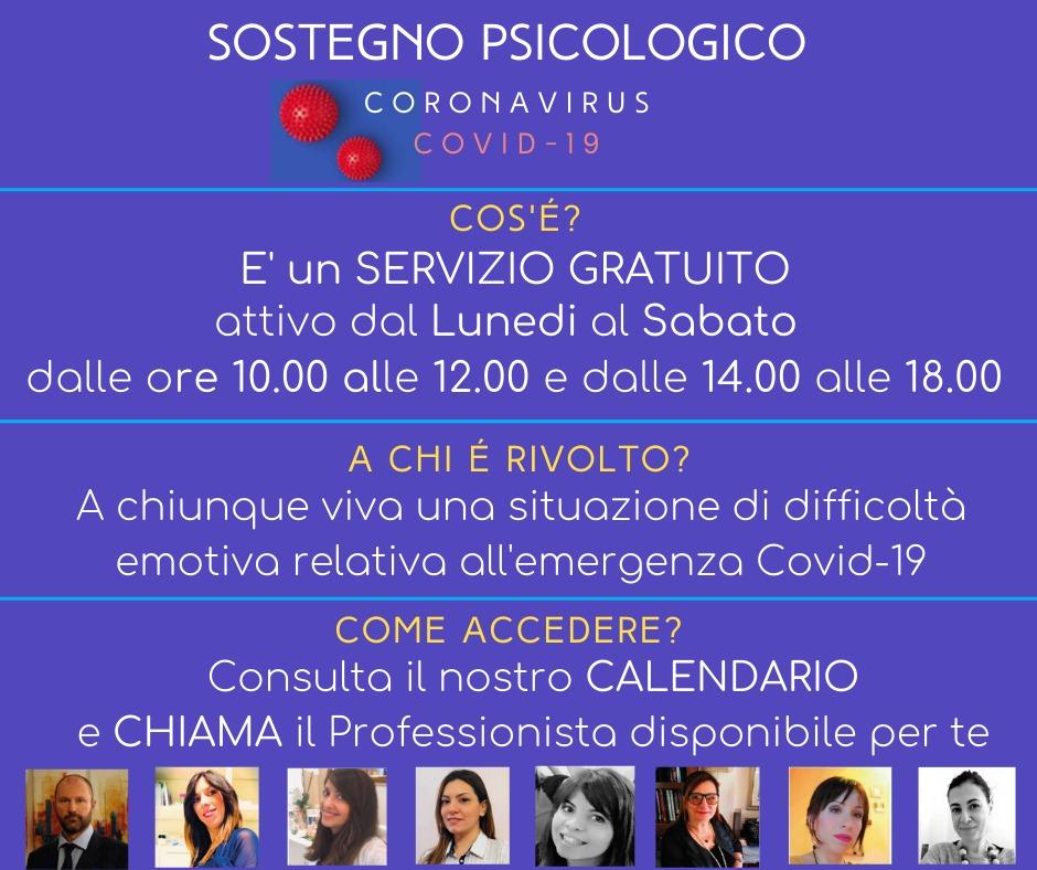 Sostegno Psicologico COVID 29